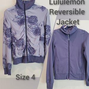 Lululemon  4 Reversible Raja Jacket Purple/Floral